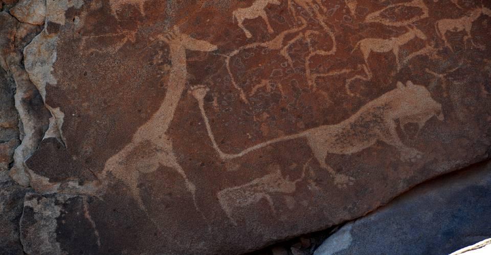 Camping in Namibia  Bushman Rock Art