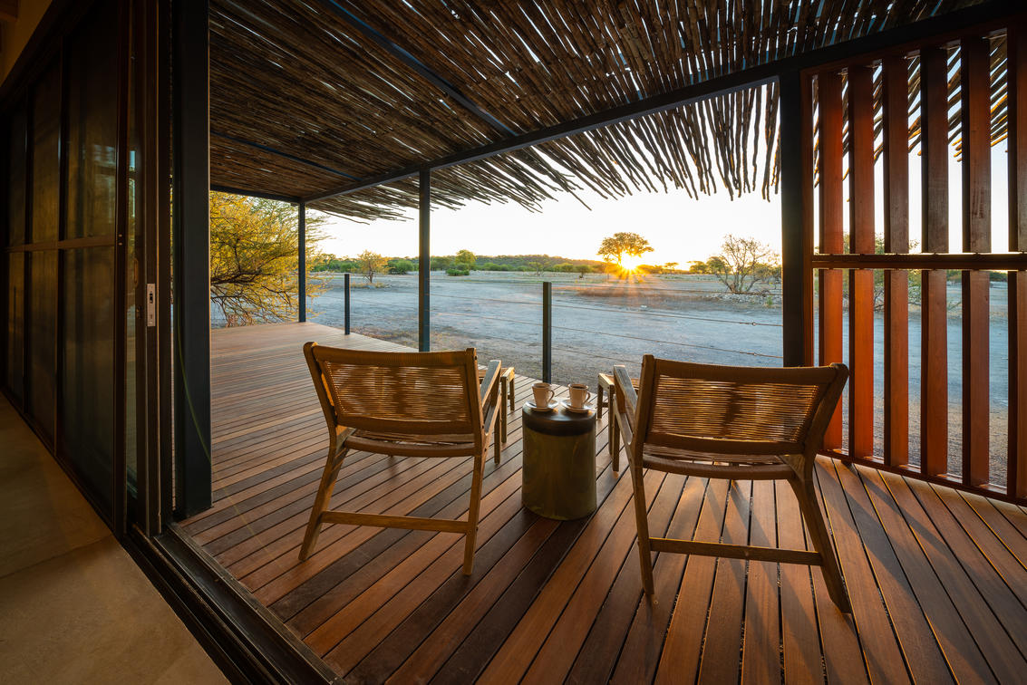 Anderssons Camp at Ongava, deck view