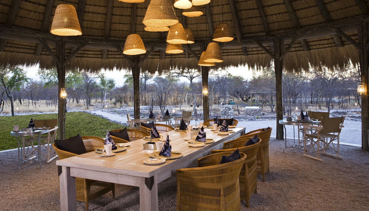 Mushara Bush Camp Outside Dining Area in Etosha National Park
